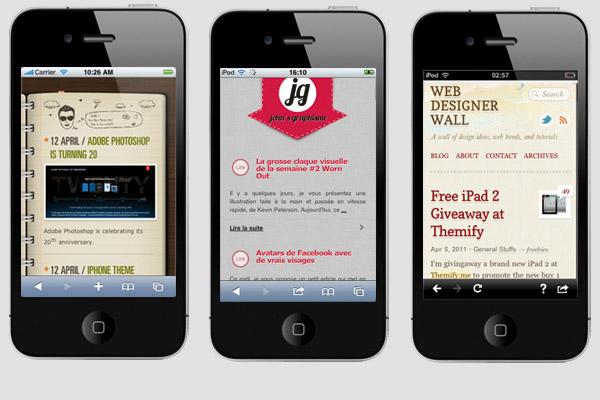 Exemple de site en version mobile